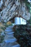 山的老教会 库存图片