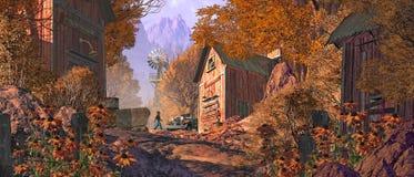 山的老金矿站点 免版税库存图片