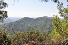 从山的视图 库存图片