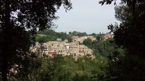 山的镇 免版税图库摄影