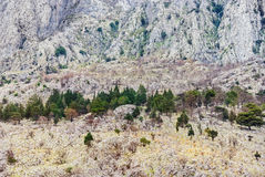 山的陡坡 库存图片