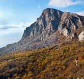 山的顶层 库存图片