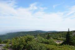 山的顶层 库存照片