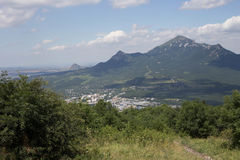 从山的顶端看法 图库摄影