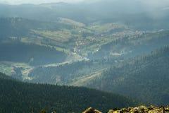 从山的顶端看法 免版税图库摄影