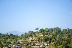 山的风景乡村 图库摄影
