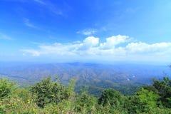 从山的高看法 免版税图库摄影