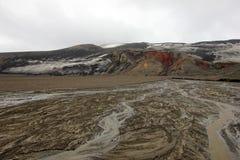 山的鸟瞰图在欺骗岛,南极洲的 免版税库存图片