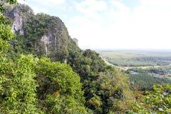 从山的鸟瞰图 免版税库存照片