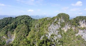 从山的鸟瞰图 库存图片
