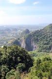 从山的鸟瞰图 库存照片