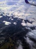 山的鸟瞰图 库存照片