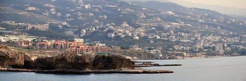 从山的黎巴嫩全景 免版税库存照片