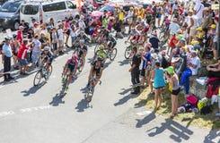 山的细气管球-环法自行车赛2015年 库存照片