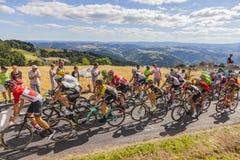 山的细气管球-环法自行车赛2017年 库存照片