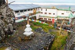 山的Kachkanar美洲河鲱Tchup陵佛教徒修道院 俄国 免版税图库摄影