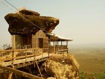 山的Phutok,泰国木亭子 库存照片