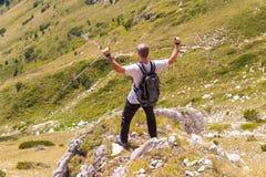 山的Pirin人 库存照片