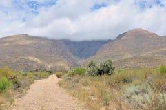 山看法在六角形的河谷 图库摄影
