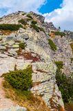 山看法从Solisko的在高Tatras,斯洛伐克 免版税图库摄影
