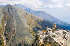 山看法从Solisko的在高Tatras,斯洛伐克 免版税库存照片