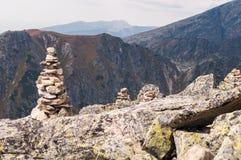 山看法从Solisko的在高Tatras,斯洛伐克 免版税库存图片