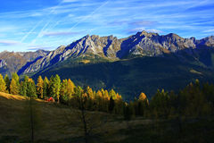 山秋天阿尔卑斯 库存图片