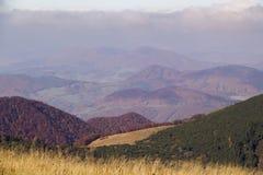 山秋天风景在国立公园马拉山Fatra,斯洛伐克, 图库摄影