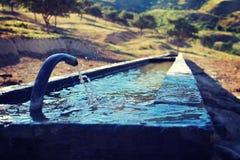 山纯净的饮用水  库存照片