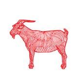 山羊中国人黄道带 免版税图库摄影