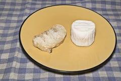 山羊乳干酪 免版税库存图片