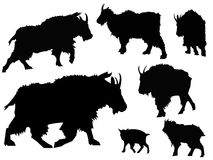 山羊剪影动物剪贴美术 免版税库存照片