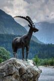 山羊座雕象 库存图片