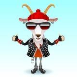 山羊摇摆物字符 免版税库存照片