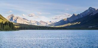 山羊池塘和Spray湖水库Canmore亚伯大加拿大 库存照片