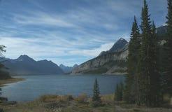 山羊湖山浪花 库存图片