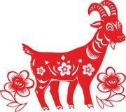 山羊的中国年2015年 库存图片