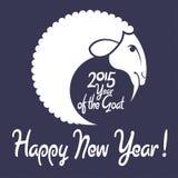 山羊的新年快乐! 免版税库存图片