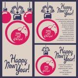 山羊的新年快乐! 免版税图库摄影