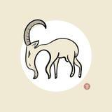 山羊的年 库存照片