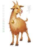 山羊的年 免版税库存照片