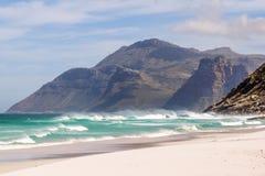 山美丽的景色在Hout海湾,开普敦,南非附近的 免版税库存照片