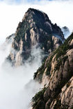 黄山美丽的登上  免版税库存照片