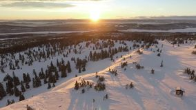 山美好的风景冬天 股票录像
