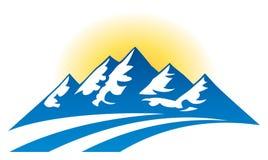 山脉商标 免版税库存图片