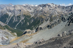 山脉在亚瑟的通行证国家公园 免版税库存照片
