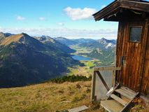 山脉在度假在德国 库存图片