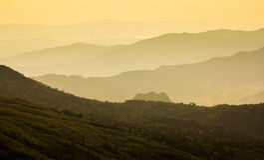 山脉在泰国 免版税库存图片