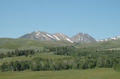 山脉雪 库存照片