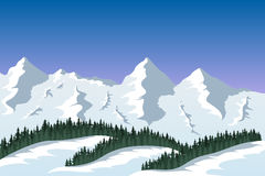 山脉风景 免版税库存图片